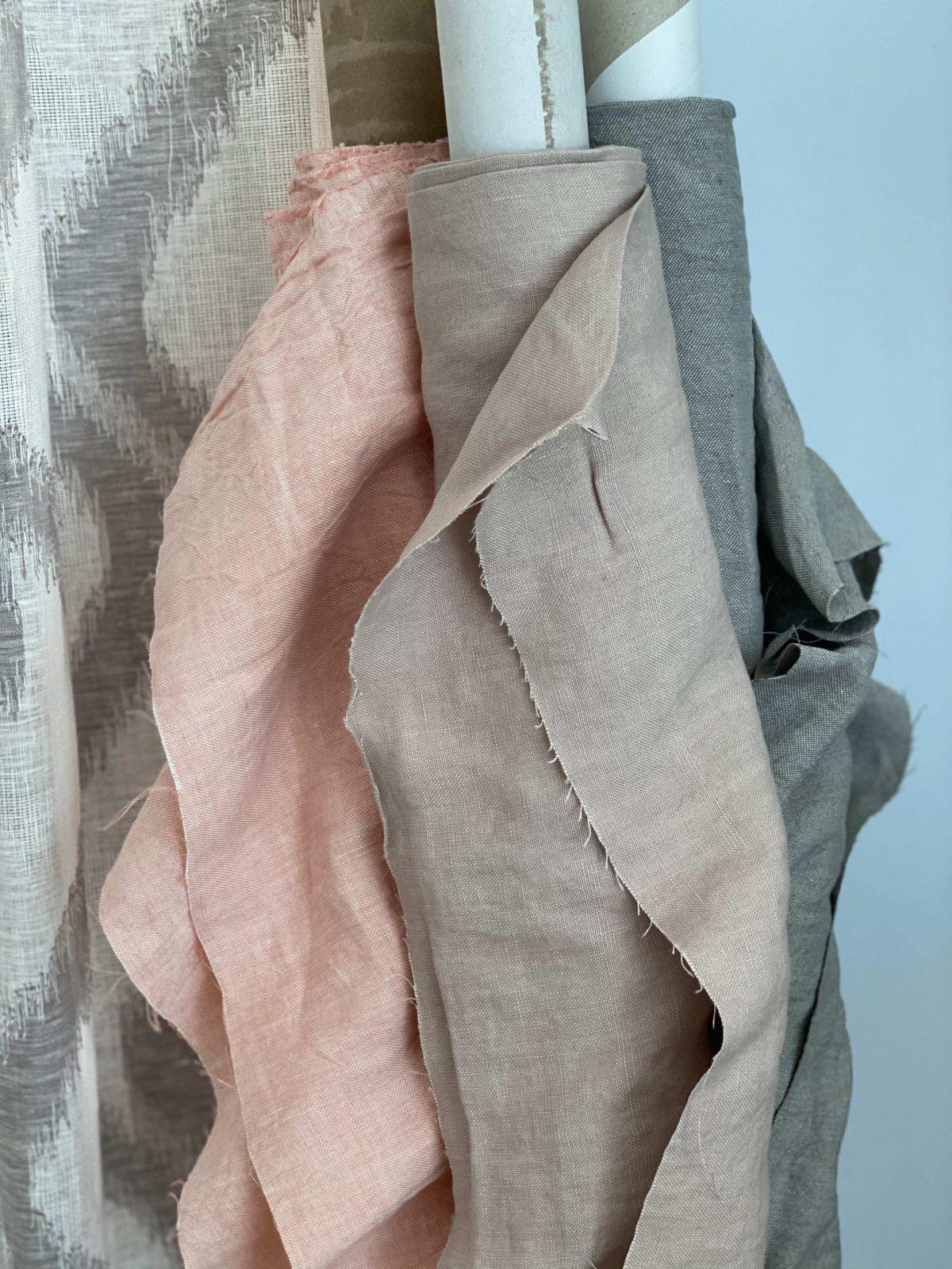 Werken met mooie stoffen zoals deze echte linnens
